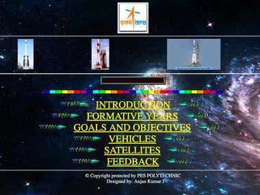Static Website about ISRO