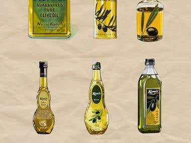 illustration for oil company