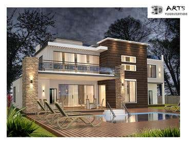 7. Exterior facade design Night view