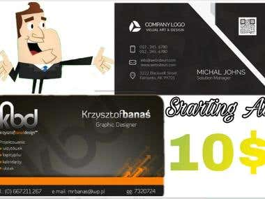 I Will Design Unique Best Quality Bussiness Cards