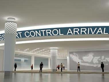 3d visual pasport control ,bandara kualanamu medan,indonesia