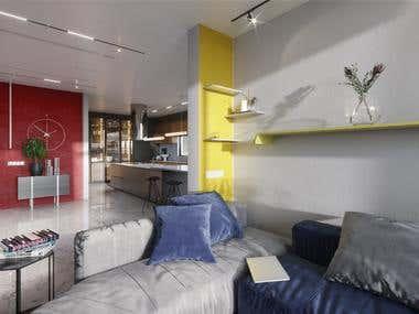 An artist apartment