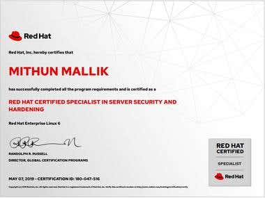 Red Hat Certified Specialist in Server Security and Hardenin