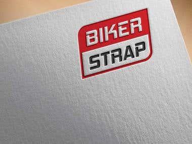 Biker Strap logo design !