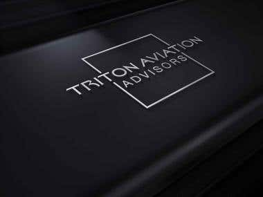 Triton Aviation Logo Design