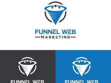 funnel Web Marketing Logo Design !