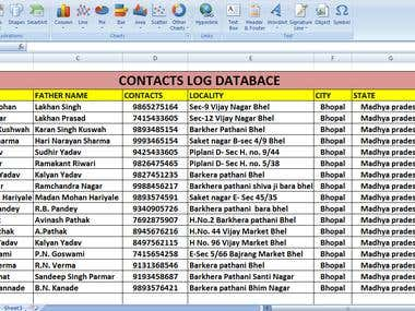 Data entry,Web scraping, Data mining,Excel, Data processing