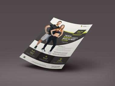 Gym & Fitness Flayer Design