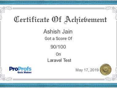 Laravel Quiz Certificate