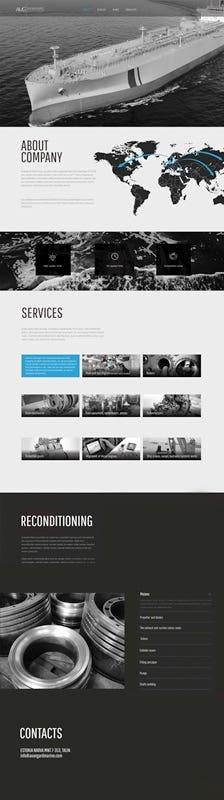 Developed site on Wordpress