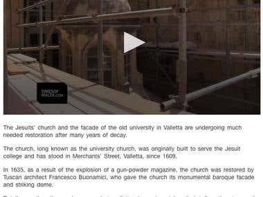 Jesuit church getting much needed restoration