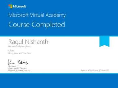 Certified Microsoft in Office 365, Excel and ASP.NET.