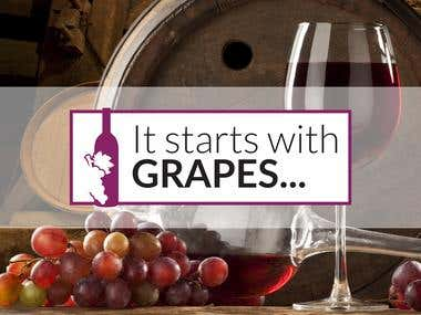 It starts with GRAPES - Logo Design