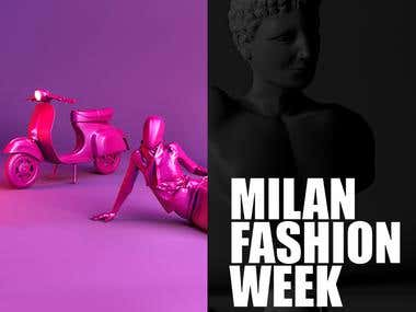 Milan Fashion Week web design.