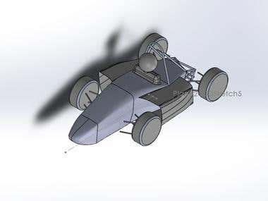Formula Racing Car Model