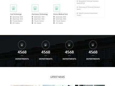 Educational Institution Based custom website
