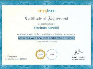 Advanced Web Analytics Certification Training