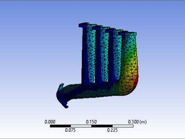Ansys Structural Analysis of an Exhaust
