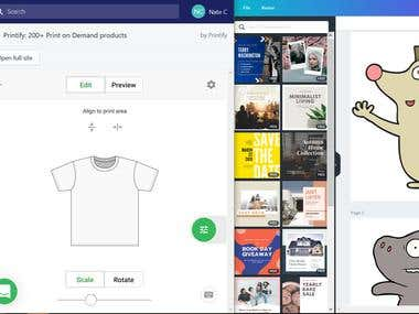 Basic T-Shirt designing through Shopify
