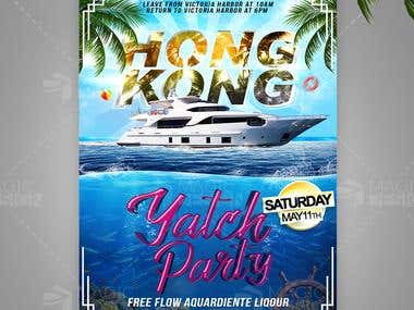Flyer Yatch Party