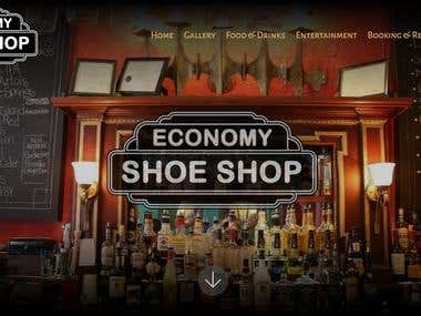 Website Project for Economy Shoe Shop www.economyshoeshop.ca
