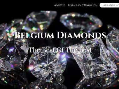Website Project for Belgium Diamonds www.belgium-diamonds.co