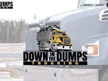Website for Down In The Dumps Trucking www.dumpstrucking.com