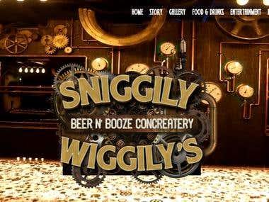 Website for Sniggily Wiggily's www.sniggilywiggilys.ca