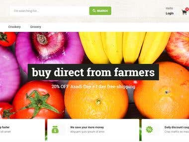 Fresh Fruits and Vegetables e-Commerce Website