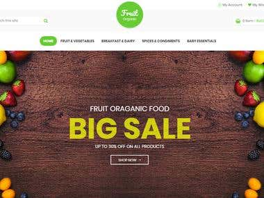 Another Fresh Fruits e-Commerce Website