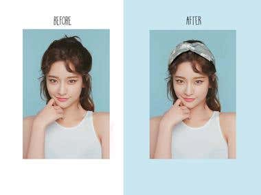 BEFORE - AFTER PRODUCT EDITING