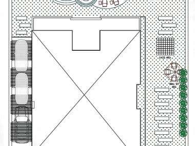 2D Drafting & Furnishing of Private Villa