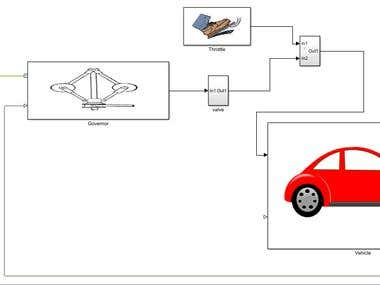 Performance of vehicle with a Governor Mechanism in MATLAB