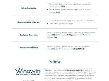 Proposal: Winawin Patnership in Marketing