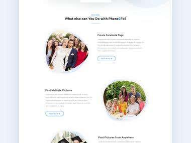 Social media photo posting service
