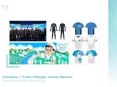 Manila Water Company Tshirt, Costume Design & Vector Banners