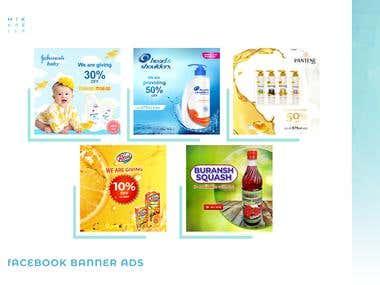 Social Media Banner Ads, Cover Images Design Layout