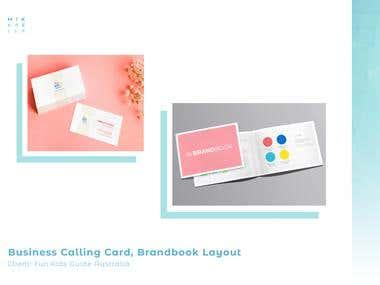 Fun Kids Guide Company card, Brandbook, & Media Kit Layout