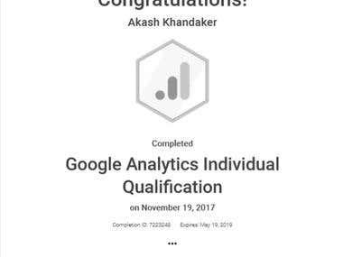 Google Analytics Individual