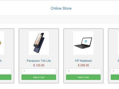 Online Shopping Cart(Php, Database)