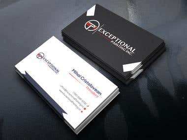 Business card with bleed