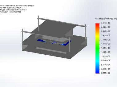 Design Calcs , FEA 3d design of Die and punch 4 Bathtub