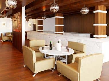 3D interior Design of a Restaurant Butcher Shop