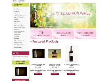 Profile Wines - Magento Store