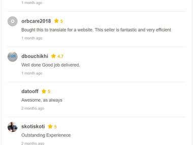 Reviews for translations