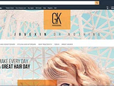 Amazon Store Front & Listing with Enhanced Brand Content