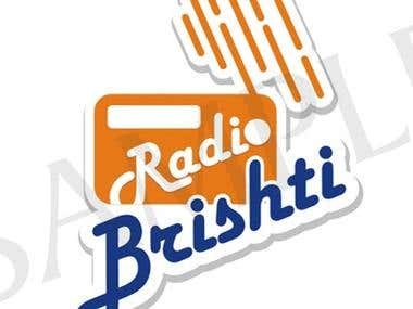 Logo design for Radio Brishti