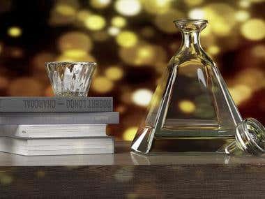 Whiskey bottle design and visualization