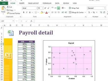Excel payroll chart