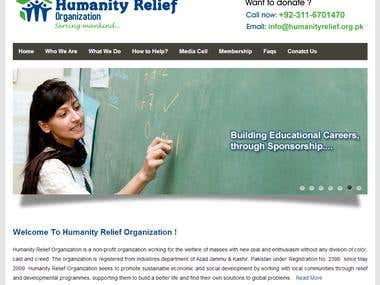Non-profit organization website design